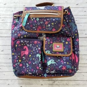 Lilly Bloom Unicorn Backpack Purple Purse Bag